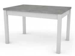 Adam 120x80 cm, biely/betón, rozkladacia