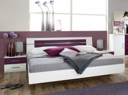 Burano 160x200 cm, biela/fialová