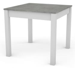 David 80x80 cm, bílý/šedý beton