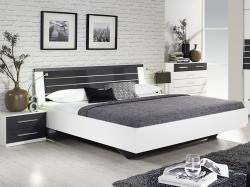 Nienburg 180x200 cm, biela/tmavá šedá