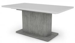 Paulo 160x90 cm, biely/beton, rozkladací