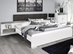 Penzberg 160x200 cm, biela/betón