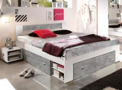 Stefan 140x200 cm, šedý beton/biela